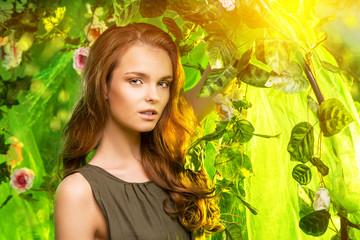 lady in tropics
