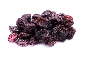 dried raisins fruit isolated on white background