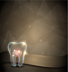 Golden tooth brochure, beautiful transparent tooth design