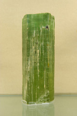 Striated Beryl crystal. Very large museum piece from Brazil.