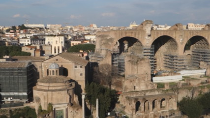 The ancient via Sacra in the Roman Forum, Rome, Italy