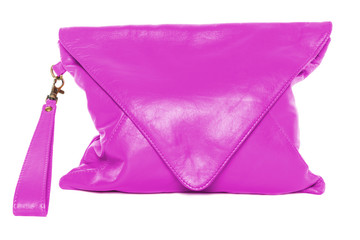 Woman bag isolated on white background violet color