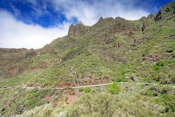 Road at mountains of Majorka Spain