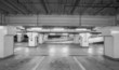 Empty space of underground car parking at night time - 79634184