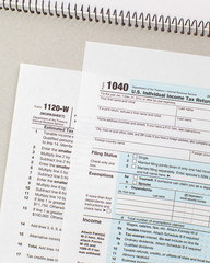 Close - up US Tax income form