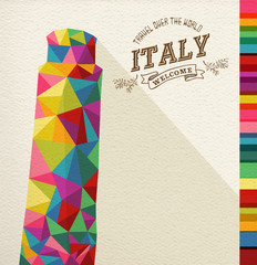 Travel Italy landmark polygonal monument