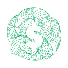 American Dollar Currency sign.