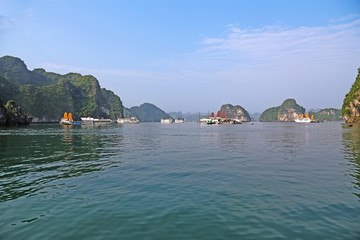 Halong Bay,Vietnam.Designated by UNESCO as the World Natural Her