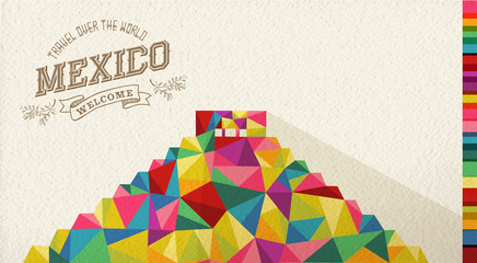Travel Mexico landmark polygonal monument