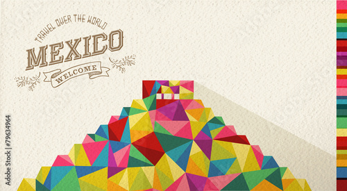 Travel Mexico landmark polygonal monument - 79634964