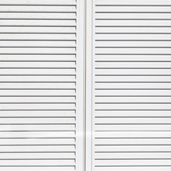 Texture and Background of White window slide shutter .
