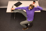 short break for exercises in office at workplace