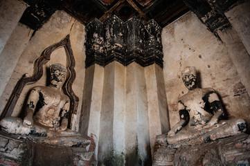 Ruined Buddha Statues at Wat Chaiwatthanaram
