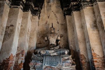 Ruined Buddha Statue at Wat Chaiwatthanaram