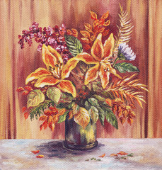 Painting Flowers Lilies