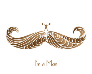 Mustache of The Real Man.