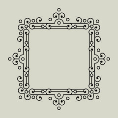 Geometric Vector Frame in Etno Floral minimal style.