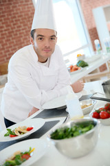 Portrait of chef in professional kitchen
