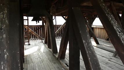 Inside Wooden Bellfry