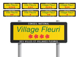 Panneaux - Villes et villages fleuris