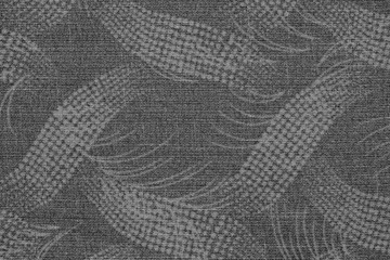 fabric of gray color with an abstract pattern