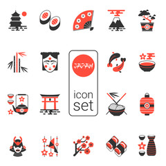 Asian icons set - vector illustration. eps 8