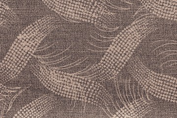 fabric of brown color with an abstract pattern