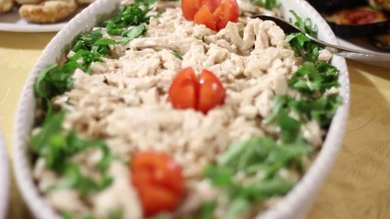 close up of vegetables and mediterranean dishes