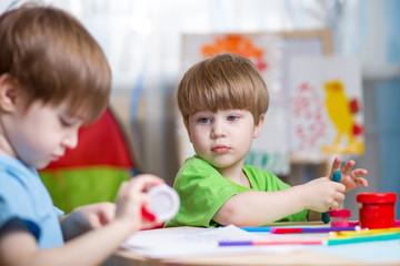 children making by hands