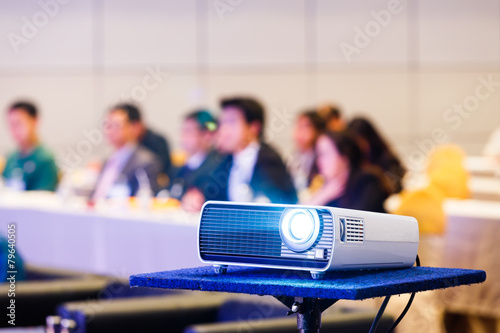 Leinwanddruck Bild Projector in conference room