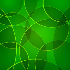 Vector abstract background with green circles