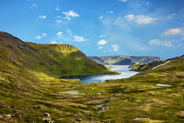 Mountain lake, North Cape, Honningsvag, Norway