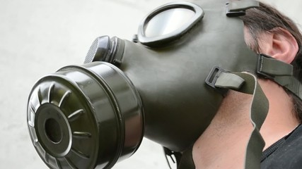 Man With Gas Mask Nod