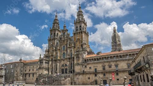 Tuinposter Bedehuis Cathedral of Santiago de Compostela , Spain.