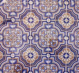 Background. Ceramic tile in Lisbon street, Portugal.