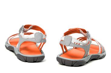Summer sandals. Back view.