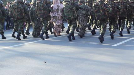 Marines Platoon Marching
