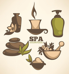 vector collection of spa sign and symbols..