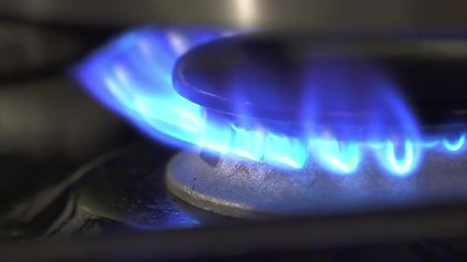 This is 4K footage of a gas stove burner.