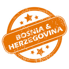 Bosnia and Herzegovina grunge icon