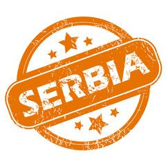 Serbia grunge icon