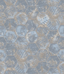 Grungy Textured Tiled Background