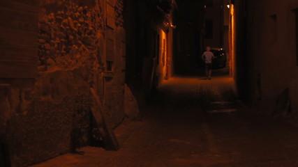 Night Solitaire Man Walking