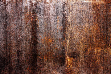 shabby rusty metal background with old cracked paint