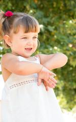 Cute little girl outdoors