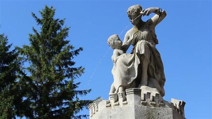 Old Figure Statue Fountain