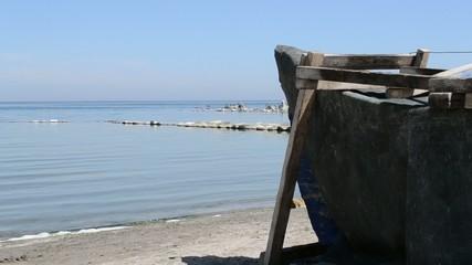 Old Boat Sea Shore View
