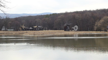 Old Windmills Landscape