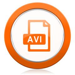avi file orange icon