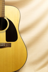 guitar at the tissue background